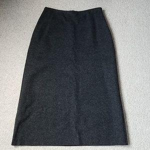 Brooks Bros 346 Wool Blend Maxi Skirt